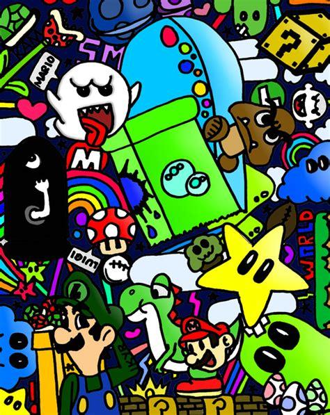 Mario Collage By Ikyr On Deviantart