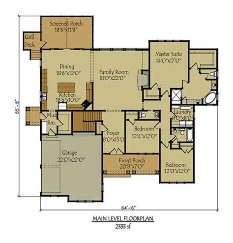 craftsman style lake house plan  walkout basement basement house plans craftsman house