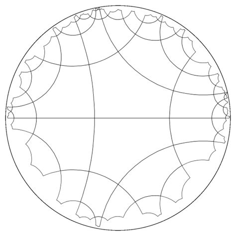 pentagon tiling hyperbolic plane tilings of the hyperbolic space and their visualization