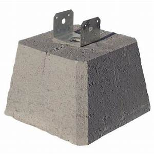 Concrete Pier Block with Metal Bracket-8053112 - The Home