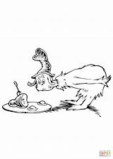 Coloring Ham Eggs Dr Seuss Suess Popular sketch template