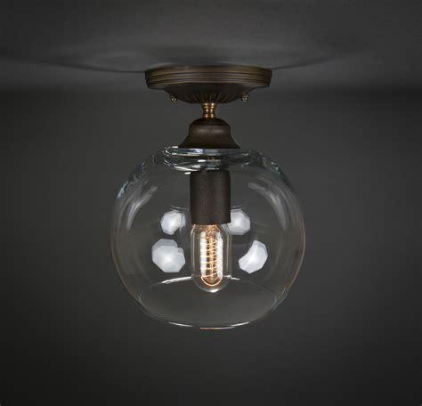 semi flush ceiling mount edison light fixture