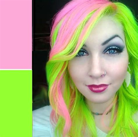 1000 Ideas About Green Hair Streaks On Pinterest Hair