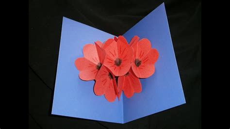 mothers day nice poppy pop  card youtube