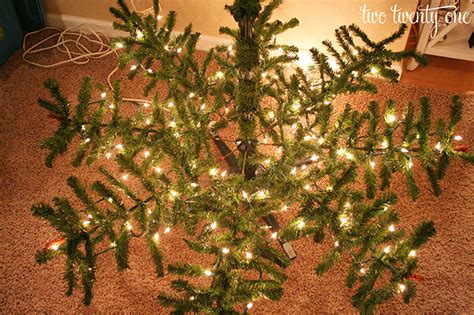 lights torestring a christmas tree how to put lights on a tree two twenty one