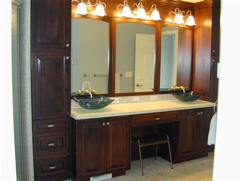 Narrow Bathroom Vanity With Vintage Lighting And Icicles