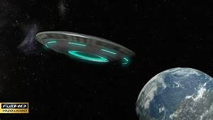 UFO Flying Saucer Approaching to Earth by blohslv   VideoHive