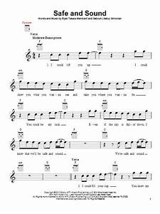Safe And Sound   Sheet Music Direct