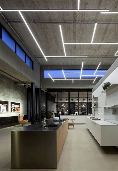 ceiling lighting design gallery of bulthaup showroom tlv pitsou kedem architects