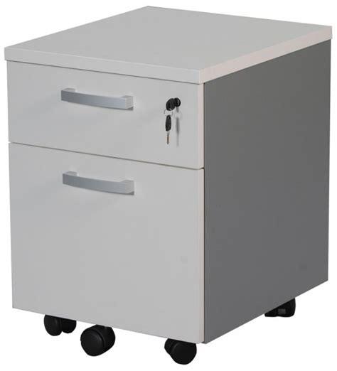 caisson de bureau colori blanc 2 tiroirs dont 1 tiroir dossiers suspendus sur roulettes