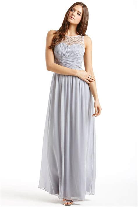 mistress grey embellished detail maxi dress