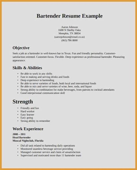 Resume Objective For Waitress by 69 Best Of Collection Of Resume Objective Exles For