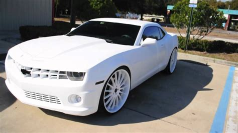 All White Cars by Lebron Matte White Camaro Ss