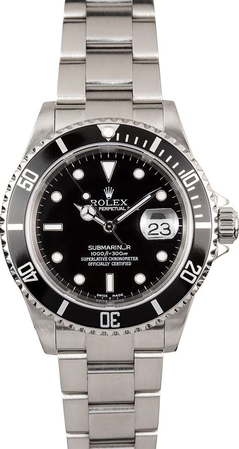 Buy Used Rolex Submariner 16610T | Bob's Watches - Sku: 112544