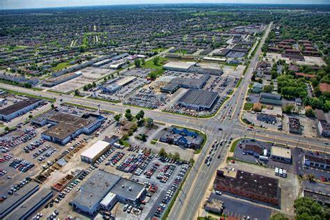 Aerial P O Of Highland Indiana  Ee  Car Ee    Ee  Dealerships Ee   On