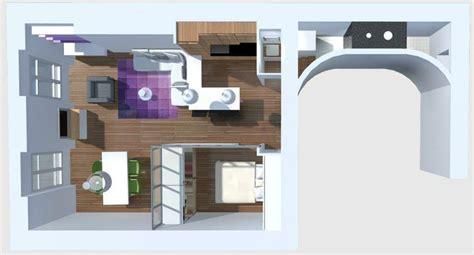 chambre aveugle dans salon vue de haut une pièce en