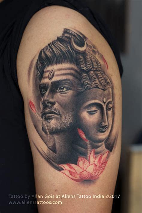 lord shiva buddha tattoo  allan gois  aliens tattoos