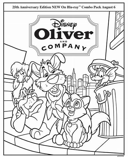 Oliver Company Coloring Disney Pages Activity Movies