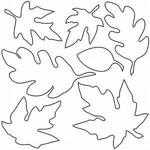 leaves cutout clipart best With leaf cut outs templates
