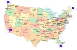 Four Corners United States Map