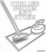 Curling Pages Coloring Coloringway sketch template