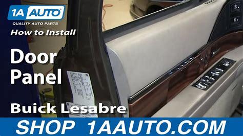 install remove front door panel   buick