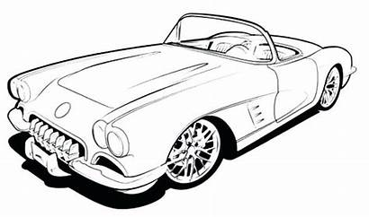 Coloring Pages Corvette Muscle Drawing Cars Classic
