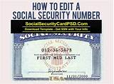You should keep your social security card in a safe place with your other important papers and avoid giving it out unnecessarily. How to edit social security number (With images) | Social security card, Card templates free ...