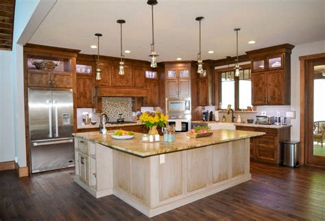 Open & Inviting Kitchen And Bath For A Grand Mountain Retreat