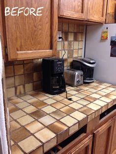 How To Cover A Tile Countertop by Diy Concrete Kit To Cover Ceramic Tile Countertops Diy