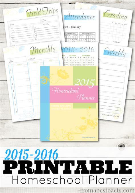 printable  homeschool planner  abcs  acts
