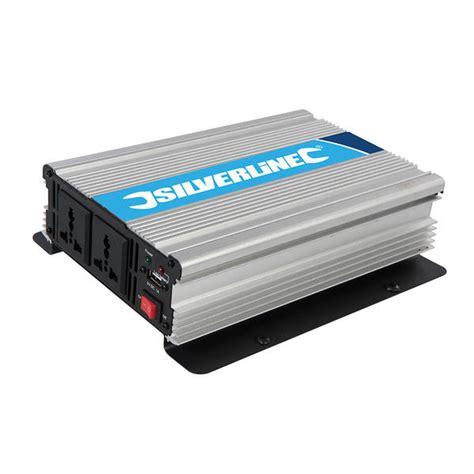 silverline 168754 1000w 12v dc 230v ac power inverter thumbnail 2