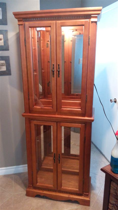 solid wood lighted curio cabinet secondhand pursuit