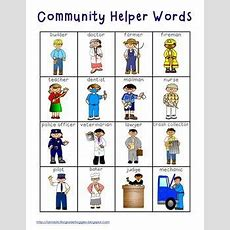 Community Helper Words  School Counseling  Community Helpers Pictures, Community Workers