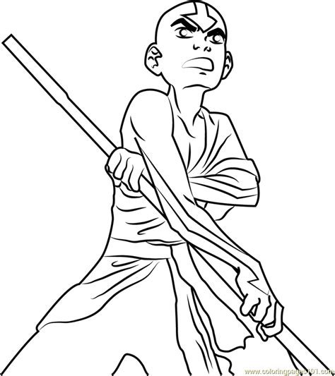 angry aang coloring page  avatar   airbender