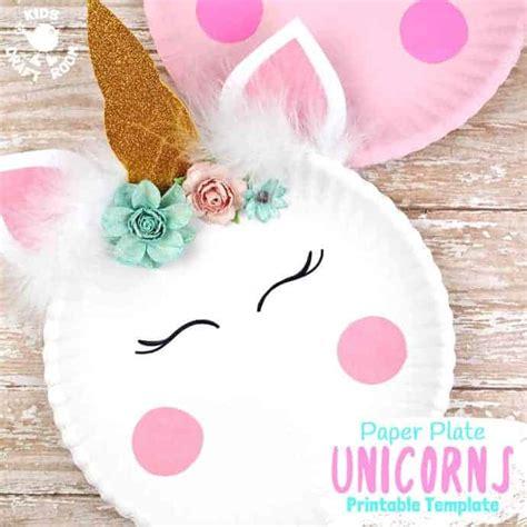 simple paper plate unicorn craft kids craft room
