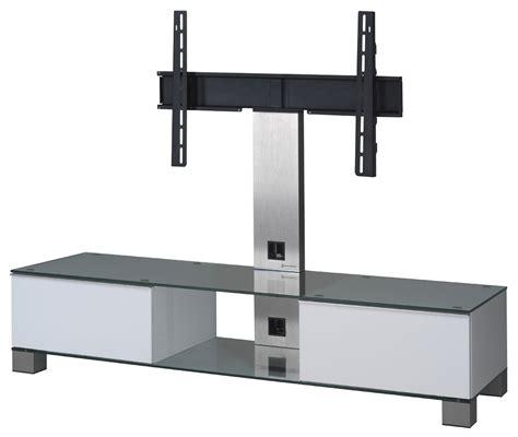 meuble tv sonorous md8140 c inx wht verre claire blanc
