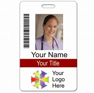 vertical name badge template invitation template With hospital id badge template