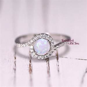 silver lab opal ring white opal ring opal wedding band With opal wedding rings for women