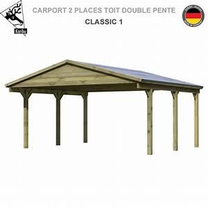 Carport 2 Voitures Alu : carport bois 2 voitures classic 1 toit double pente ~ Medecine-chirurgie-esthetiques.com Avis de Voitures
