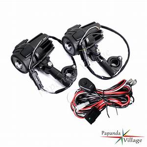 Led Auxiliary Fog Lights   40a Wiring Harness Switch For Bmw Motorcycle R1200gs