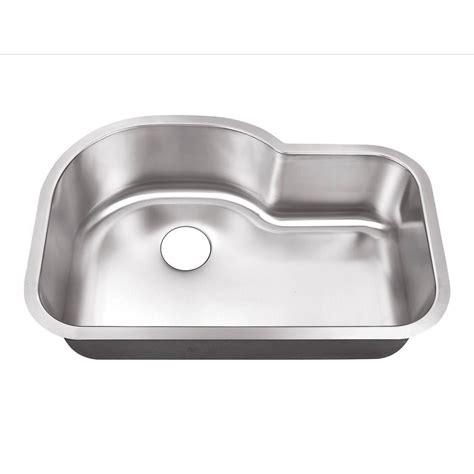 stainless steel single bowl undermount kitchen sink belle foret undermount stainless steel 32 in 0 hole