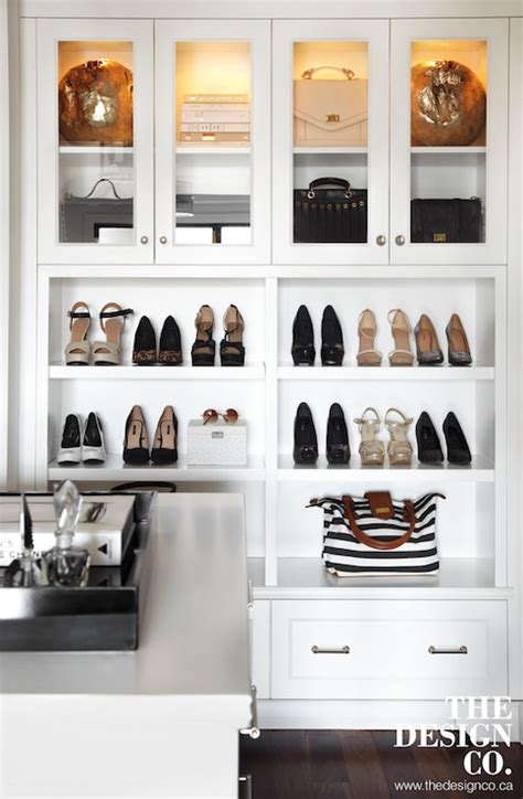cabinets  display handbags transitional closet
