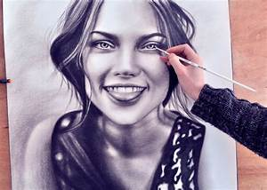 How to Paint a face (speed drawing) drawing (realism ...