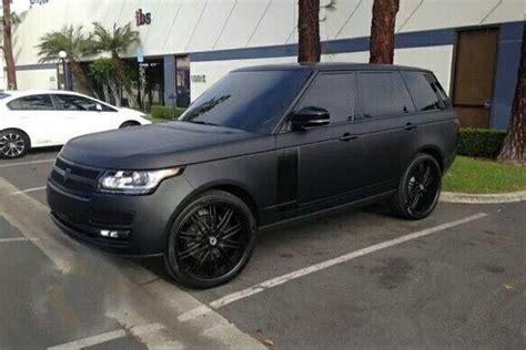 matte black  black range rover matte black cars range