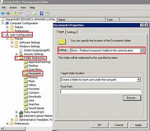 a simple guide to setup folder redirection in sbs 2011 With my documents path
