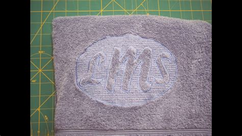 brother pe design  embossed towels lesson  youtube