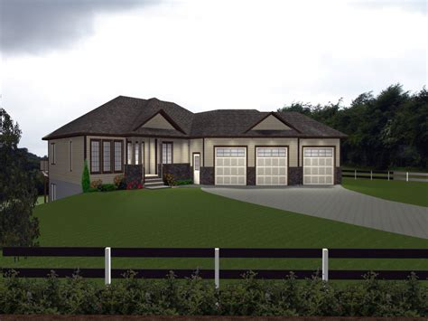 small guest house plans house plans  attached  car garage bungalow front designs