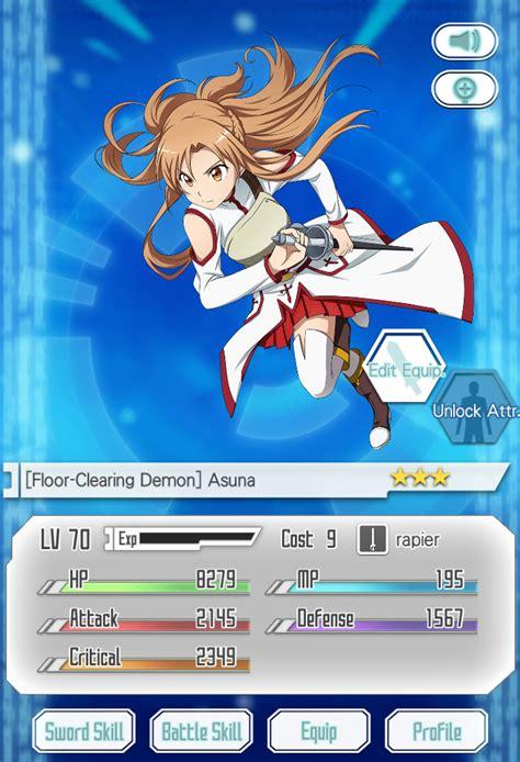 floor clearing demon asuna sword art  memory