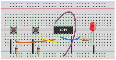 How Build Nand Gate Logic Circuit Using Chip
